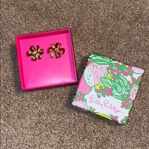 Lilly Pulitzer Gold Bow Tie Earrings